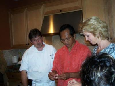 Cooking demo with Chef Chalie and guests